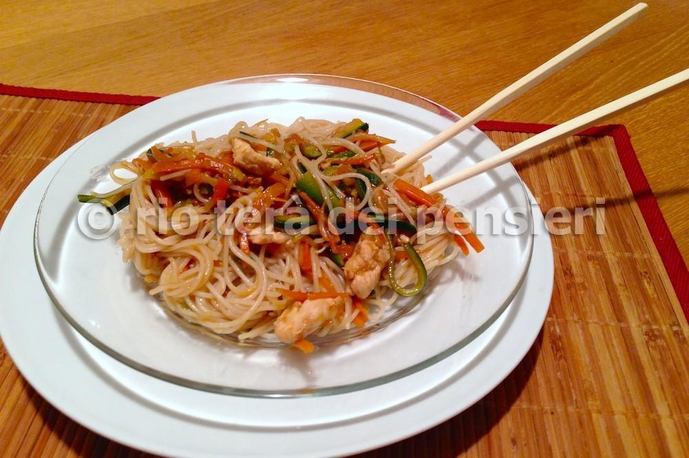 spaghetti riso pollo