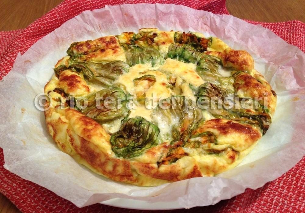 torta salata fiori zucca